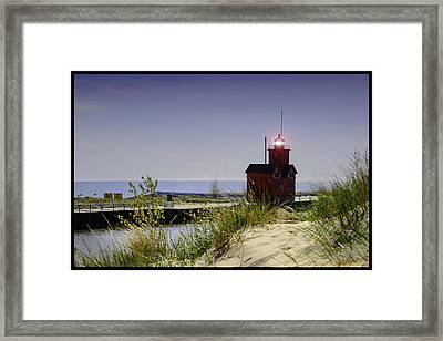 Holland Harbor Light  Framed Print