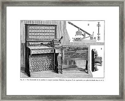 Hollerith Tabulator Framed Print by Universal History Archive/uig