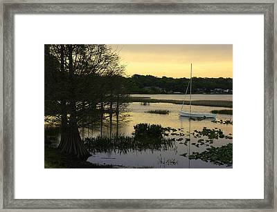 Hollingsworth Sunset Framed Print by Laurie Perry