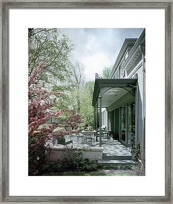 Hollis Baker's Patio Framed Print
