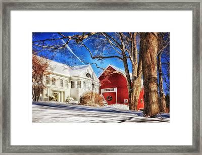 Hollis Farm Framed Print by Tricia Marchlik