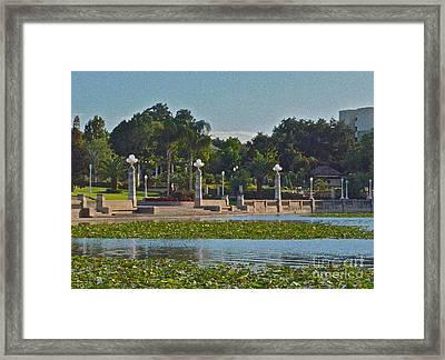 Hollis Gardens II Framed Print by Carol  Bradley