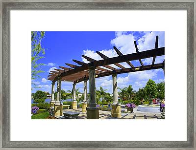 Hollis Pergola Framed Print by Laurie Perry