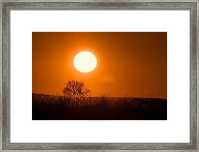 Hollister Idaho Spring Sunset Framed Print