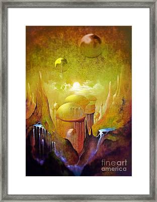 Hollow Earth Agharta Framed Print