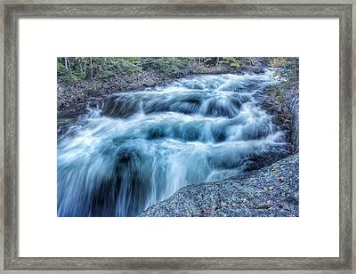Hollow River Rapids Framed Print by Lee Burgess