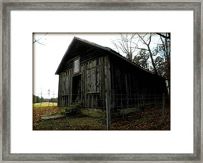 Holloway Township Historic Site Nc Usa Framed Print by Kim Galluzzo Wozniak