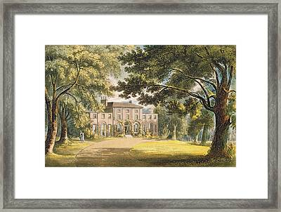 Holly Grove House, From Ackermanns Framed Print
