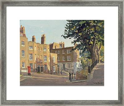 Holly Hill, Hampstead Oil On Canvas Framed Print by Julian Barrow