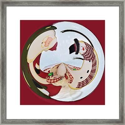 Holly Jolly Orb Framed Print by Kim Hojnacki