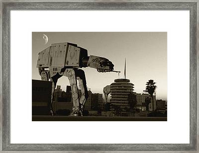 Hollywood Atat Framed Print by MadMethod Designs