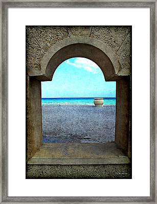 Hollywood Beach Arch Framed Print by Joan  Minchak