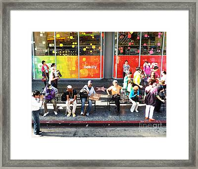 Hollywood Bus Stop Framed Print