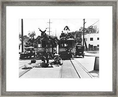 Hollywood Calvacade Scene Framed Print by Underwood Archives