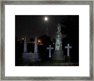 Hollywood Cemetery Moon Burst Framed Print by Jemmy Archer