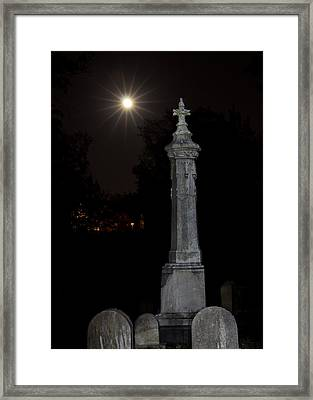 Hollywood Cemetery Moon Rise Framed Print by Jemmy Archer
