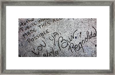 Hollywood Chinese Theatre Burt Reynolds 5d29051 Framed Print