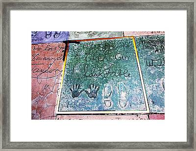 Hollywood Chinese Theatre Clark Gable 5d28994 Framed Print by Wingsdomain Art and Photography
