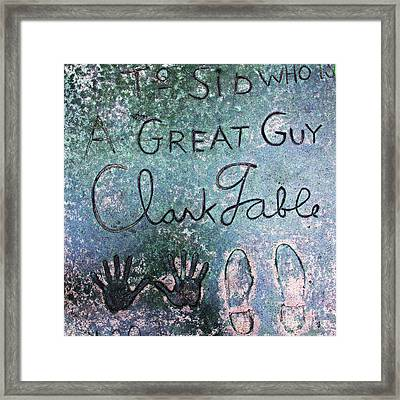Hollywood Chinese Theatre Clark Gable 5d28995 Framed Print by Wingsdomain Art and Photography