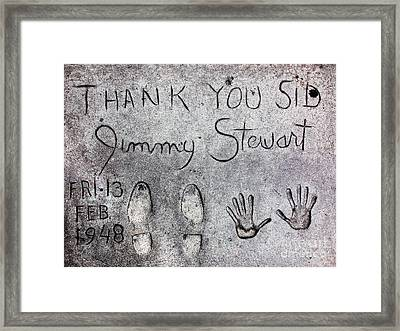 Hollywood Chinese Theatre Jimmy Stewart 5d29018 Framed Print