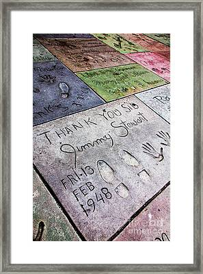 Hollywood Chinese Theatre Jimmy Stewart 5d29038 Framed Print