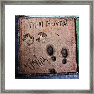 Hollywood Chinese Theatre Kim Novak 5d29046 Framed Print