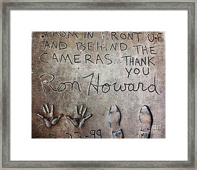 Hollywood Chinese Theatre Ron Howard 5d29035 Framed Print by Wingsdomain Art and Photography