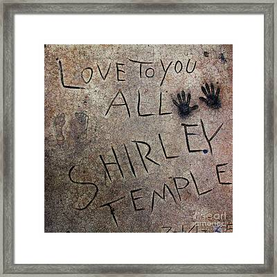 Hollywood Chinese Theatre Shirley Temple 5d29050 Framed Print