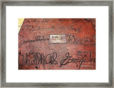 Hollywood Chinese Theatre Star Trek 5d28990 Framed Print by Wingsdomain Art and Photography