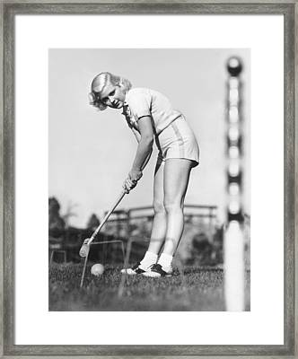 Hollywood Croquet Framed Print by Underwood Archives