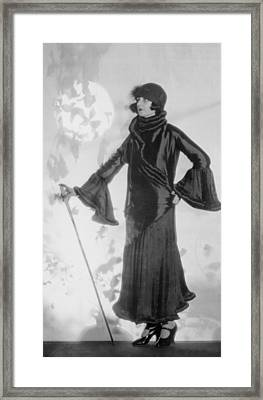 Hollywood Fashion Model Framed Print by Underwood Archives