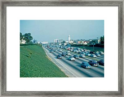 Hollywood Freeway 2 1954 Framed Print by Cumberland Warden