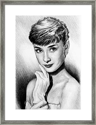 Hollywood Greats Hepburn Framed Print by Andrew Read