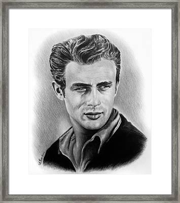 Hollywood Greats James Dean Framed Print
