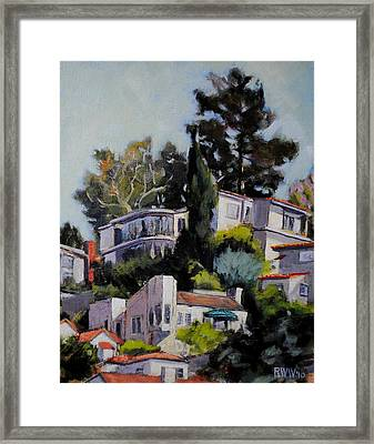 Hollywood Hills Framed Print by Richard  Willson