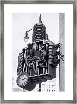 Hollywood Landmarks - Hollywood And Vine Sign Framed Print by Art Block Collections