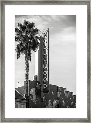 Hollywood Landmarks - Hollywood Theater Framed Print by Art Block Collections