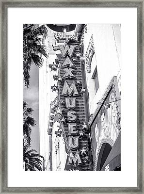 Hollywood Landmarks - Hollywood Wax Museum Framed Print by Art Block Collections