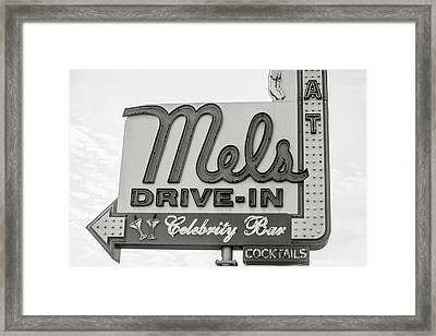 Hollywood Landmarks - Mel's Drive-in Framed Print by Art Block Collections