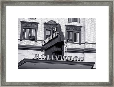 Hollywood Landmarks - The Knickerbocker Framed Print by Art Block Collections