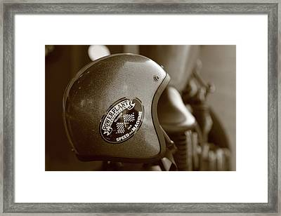 Hollywood Motorcycle   Framed Print by Gilbert  Pacificar
