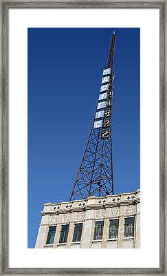 Hollywood Pacific Theatre Tower Framed Print by Gregory Dyer