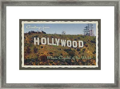 Hollywood Postcard Framed Print by Bill Jonas