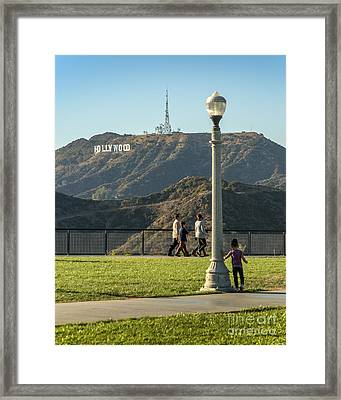 Hollywood Sign From Griffith Framed Print