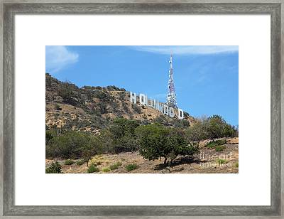 Hollywood Sign In Los Angeles California 5d28483 Framed Print by Wingsdomain Art and Photography