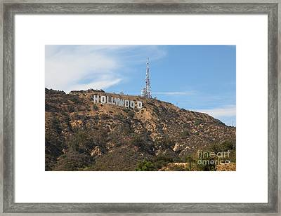 Hollywood Sign In Los Angeles California 5d28484 Framed Print by Wingsdomain Art and Photography
