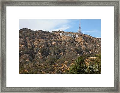 Hollywood Sign In Los Angeles California 5d28486 Framed Print by Wingsdomain Art and Photography