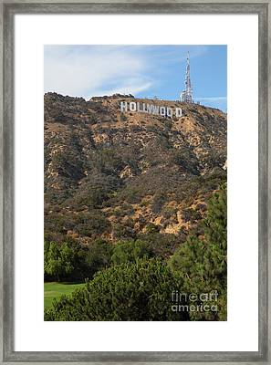 Hollywood Sign In Los Angeles California 5d28488 Framed Print by Wingsdomain Art and Photography