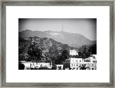 Hollywood Sign Framed Print by John Rizzuto