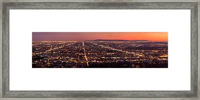 Hollywood Streets Framed Print